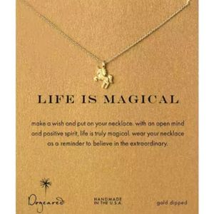 """Jewelry - Unicorn """"Make A Wish"""" Life Is Magical Necklace"""